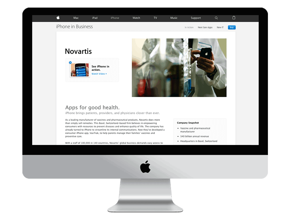 Apple - natie-apple-website - Natie Branding Agency