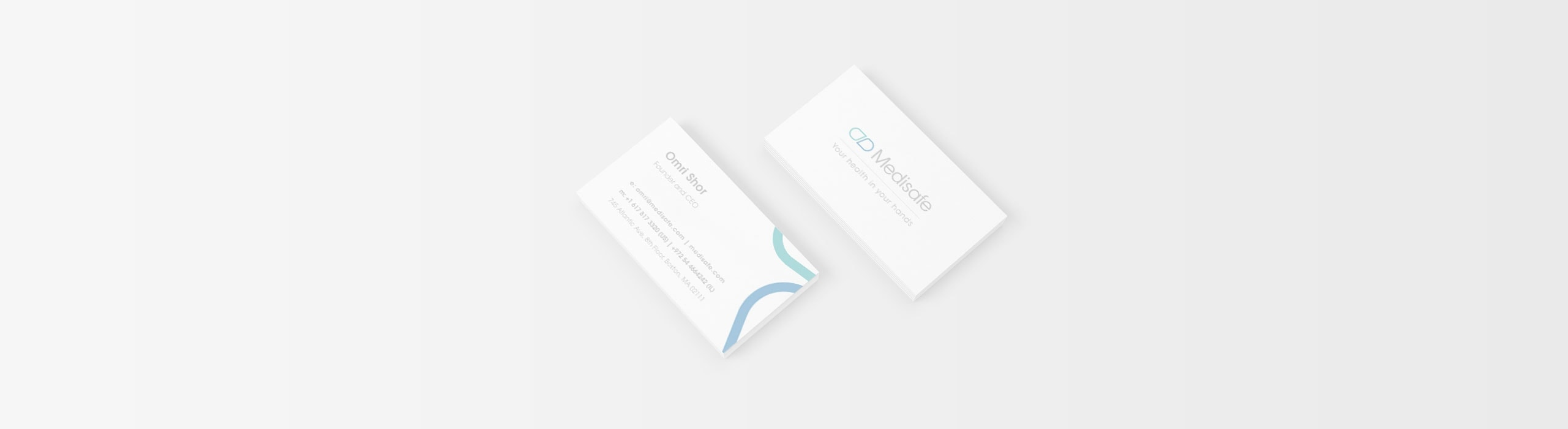 Medisafe - natie-medisafe-business-cards-design - Natie Branding Agency
