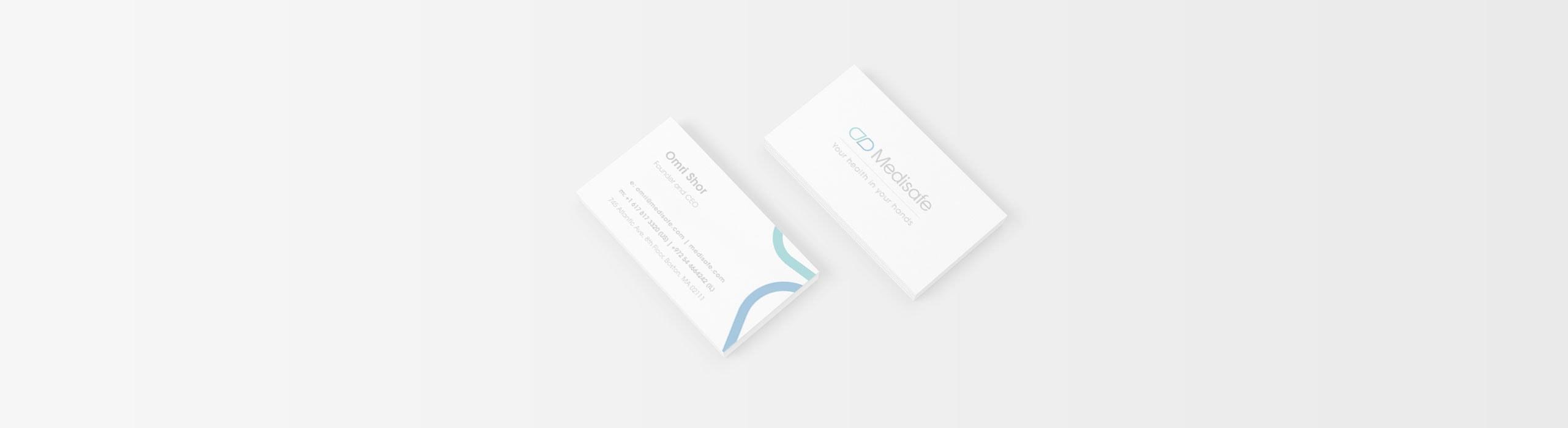 Medisafe - natie-medisafe-business-cards-design - Natie Branding Agency