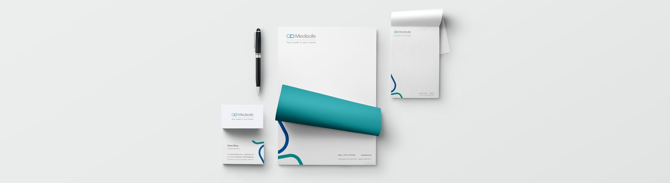 Medisafe - natie-medisafe-stationary-design - Natie Branding Agency