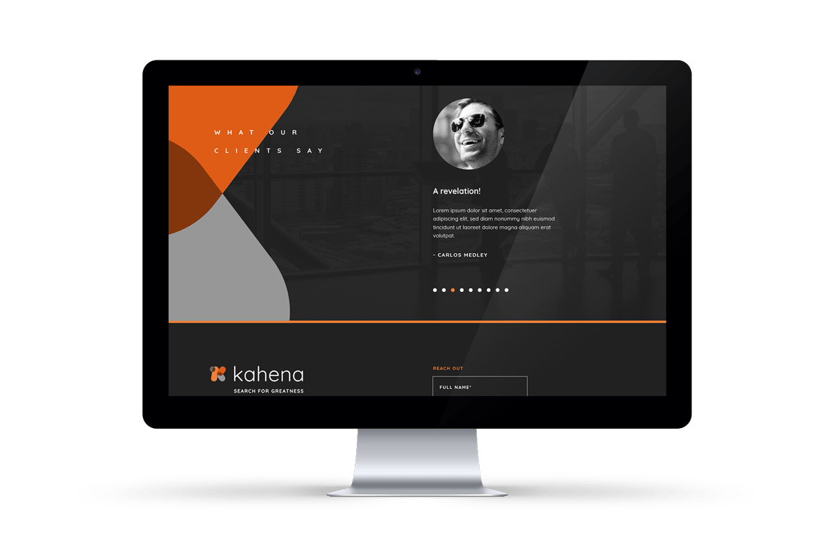 Kahena - natie-kahena-website-apple-monitor - Natie Branding Agency