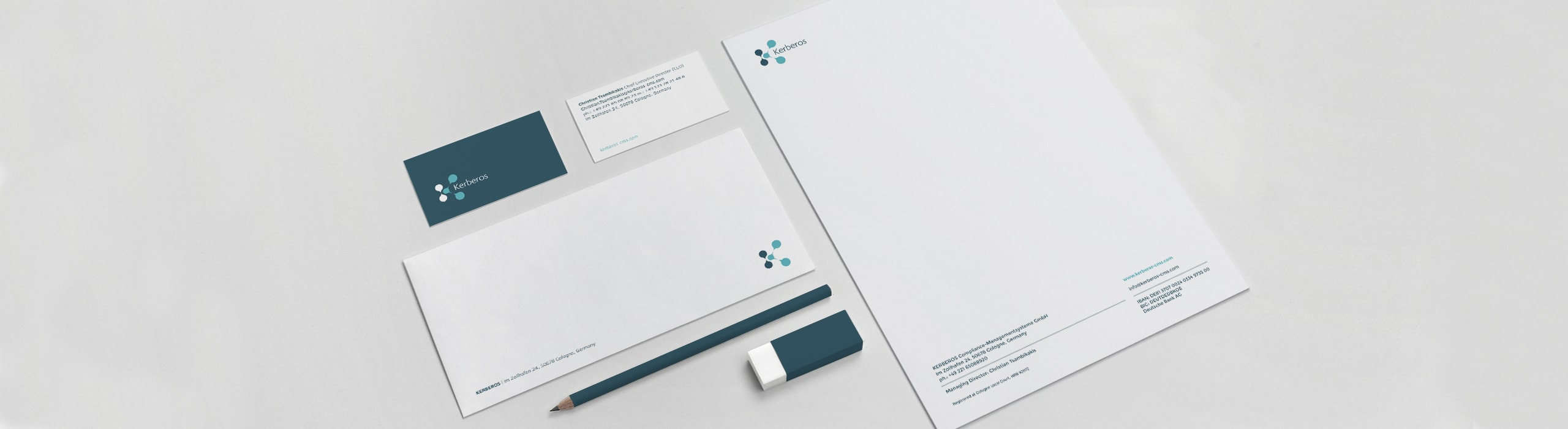 Kerberos - stationery - Natie Branding Agency